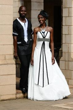 black and white african wedding attire images - Google Search African Wedding Attire, African Attire, African Wear, African Dress, African Weddings, African Clothes, African Inspired Clothing, African Traditional Wedding, African Fashion Ankara