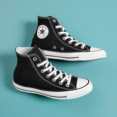 Black and white high top converse sneakers All Star converse brand Gently worn Women's size Men's Black Hi Top Converse, Converse Shoes High Top, Star Shoes, Converse Chuck Taylor All Star, Converse All Star, Chuck Taylor Sneakers, High Top Sneakers, Galaxy Converse, Mode Converse