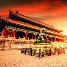 Forbidden City, Beijing, China Probably, the most famous imperial palace on Earth; it also listed by UNESCO as the largest collection of preserved ancient wooden structures in the world Minecraft Japanese House, Bolivia Travel, Most Haunted Places, Imperial Palace, Chinese Architecture, China Travel, The Good Place, Beautiful Places, Places To Visit