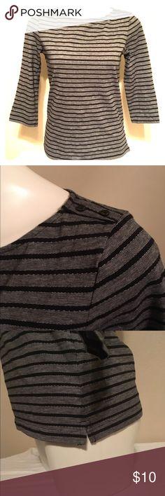 Selling this Croft & Barrow Striped 3/4 length sleeve on Poshmark! My username is: petrichjm. #shopmycloset #poshmark #fashion #shopping #style #forsale #croft & barrow #Tops