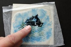 Splitcoaststampers - Acetate & Tissue Technique Tutorial by Beate Johns.  Makes a clear or translucent picture for a unique card...instructions and a video too!