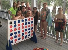 Giant Connect Four game we have for sale.  Check it out on Etsy