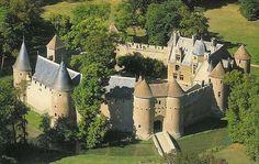 Château d'Ainay-le-Vieil where the Nazi Pulse Bomb scientists lived.