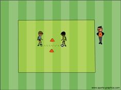 Teaching passing so players learn to keep possession of the soccer ball.