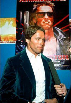 The Terminator - Arnold Schwarzenegger . Photos with interview Arnold Schwarzenegger, Hitman Agent 47, Terminator 1984, Planet Hollywood, Alpha Male, Elizabeth Olsen, Iron Man, Interview, Hero