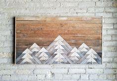 Reclaimed Wood Wall Art Wall Decor or Twin Headboard Lath