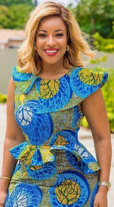 African Dress Ankara Dress Off Shoulder African Midi Dress African Fashion Ankara, Latest African Fashion Dresses, African Inspired Fashion, African Dresses For Women, African Print Dresses, African Print Fashion, Africa Fashion, African Attire, African Wear