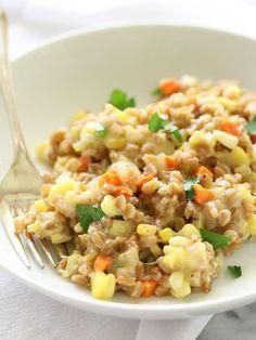 Sweet Corn, Gouda and Farro Risotto Plus 15 More Farro Recipes You'll Love Forever – foodiecrush