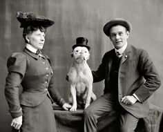 1908 Mr. and Mrs. Frank Kern and their trained dog Bobbie.