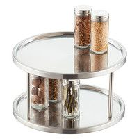 2-Tier Stainless Steel Lazy Susan