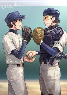 diamond no ace Anime Love, Anime Guys, Manga Anime, Anime Art, Diamond No Ace, Baseball Anime, Miyuki Kazuya, Pokemon, Slayer Anime