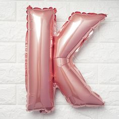 Rose Gold Mylar Foil Letter Helium Balloons Birthday Party - K - ChairCoverFactory Letter Balloons, Helium Balloons, Foil Balloons, Number Balloons, Balloon Columns, Balloon Arch, Balloon Centerpieces, Balloon Decorations, Wedding Balloons