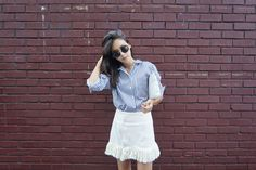 Fringed High Waist Skirt | DARKVICTORY: Korean Fashion for women in a glance
