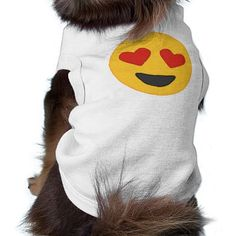 Heart Eyes Emoji Dog Shirt