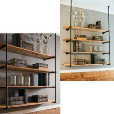 Wall Mounted Bookshelves, Floating Bookshelves, Bookshelf Storage, Diy Wall Shelves, Pallet Shelves, Kitchen Shelves, Diy Shelving, Wall Bar Shelf, Home Office Shelves