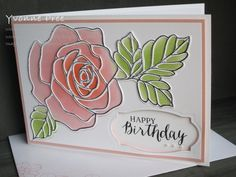 Roses Gardening Rose Wonder, Rose Garden Thinlits, Occasions Stampin' Up! Retirement Cards, Stamping Up Cards, Mothers Day Cards, Card Maker, Sympathy Cards, Flower Cards, Anniversary Cards, Scrapbook Cards, Homemade Cards