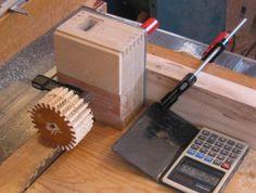 Wooden gear cutting jig