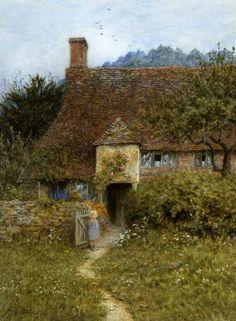 Old Cottage, Witley - Helen Allingham Prints - Easyart.com