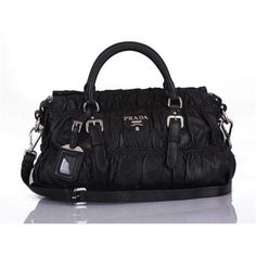 d1093a99c76ea1 #Prada Women Black Top Handles Sale Store, Outlet Store, Prada Bag, Prada