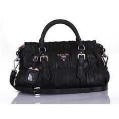 #Prada Women Black Top Handles