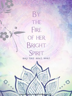 By the Fire of her Bright Spirit Art Print ~ Amethyst and the Moon