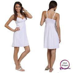 Awesome Great 1 World Sarongs Short Lined Summer Dress in White - Lined - Small 2017-2018 Check more at http://24myshop.cf/fashion-style/great-1-world-sarongs-short-lined-summer-dress-in-white-lined-small-2017-2018/