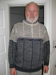 Ravelry: Feliga's Newspaper sweater (by Marianne Isager)