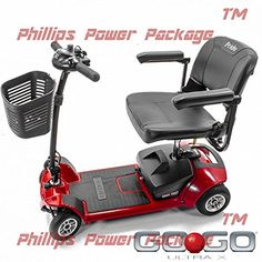 GoGo Ultra X 4Wheel  Pride Mobility  PHILLIPS POWER PACKAGE TM  TO 500 VALUE * Detailed information can be found by clicking on the image