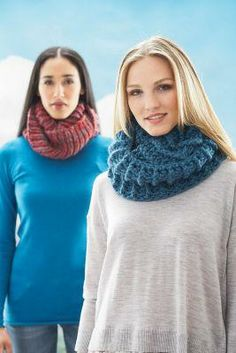 Knit and crochet cowls.