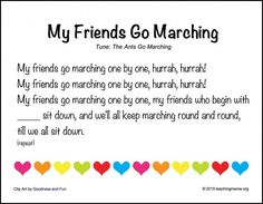 My Friends Go Marching