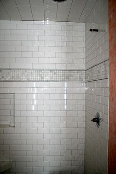 White Subway Tile With Accent Tile Google Search Bathroom Pinterest The O Jays Of And White Subway Tiles