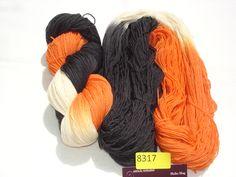 Merino in orange/natur/schwarz