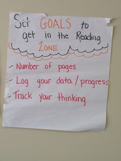 Teaching about setting goals