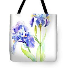 Iris Blue Tote Bag by Darya Tsaptsyna