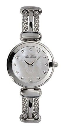 Michel Herbelin Silver Dial Two Tone Cable Watch Jewelry Shop, Beaded Jewelry, Jewellery, Gold Watch, Diamond Engagement Rings, Bracelet Watch, Watches For Men, Sapphire, Wedding Rings