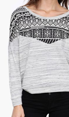 Clarissa Long Sleeve Sweater in Grey