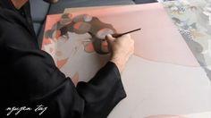 L'artiste-peintre prépare sa nouvelle exposition à Paris, prévue à partir du 17 janvier 2018, en créant un nouvelle œuvre.     A suivre