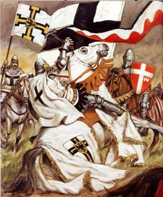 Achieve a rank of knighthood with the Order of the Teutonic Knights Of St. Mary's Hospital in Jerusalem.