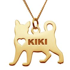Wear your love for your favorite furry friend close to your heart with this personalized pet pendant!