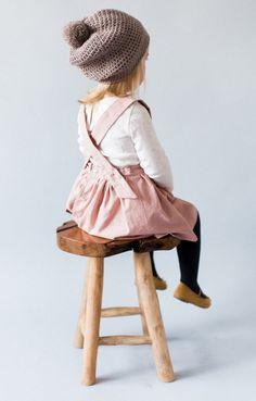Linen Pinafore Dress | blytheandreese on Etsy