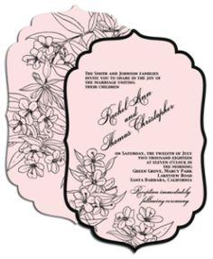 black border wedding invitations