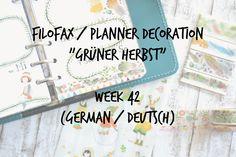 Filofax Decoration Week 42 (german/deutsch)