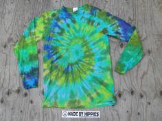 Multi Spiral Tie Dye Long Sleeve Shirt