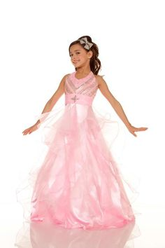 Style: #4676 PINK Little Girl Dresses, Girls Dresses, Little Monkeys, Dressy Dresses, Pageant Dresses, Couture Fashion, Pretty In Pink, Pink Flowers, Beautiful Dresses
