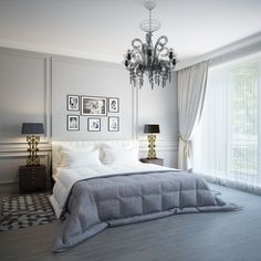 Delightful Master Bedroom Decor with Candle Bulb Chandelier Ideas White Bedroom Furniture, Bed Furniture, Cheap Furniture, Master Bedroom Design, Modern Bedroom, Dream Bedroom, Decoration Bedroom, Fashion Room, Bedroom Colors