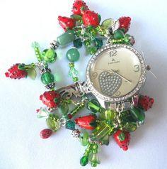 Custom Made Strawberry Watch by Just Gini Jewellry