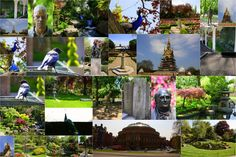 Collage of Holland Park, the Royal Albert Hall and the Albert Memorial