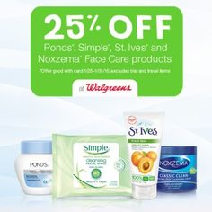 $1 St Ives Coupon Walgreens: 25% off St Ives, Ponds, Noxzema & Simple Skin Products + $1 ...