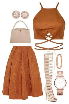 Rochass Rose by believeindiamonds on Polyvore featuring Rochas, ZiGiny, Louis Vuitton, Givenchy, Marc by Marc Jacobs and Cartier