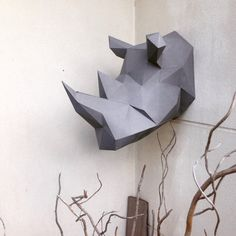 Lowpoly Rhino Papercraft DIY model